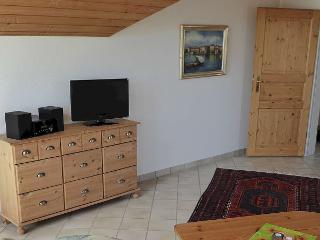 Wohnzimmer - Fernseher, Haus Sonntag, Ferienwohnung