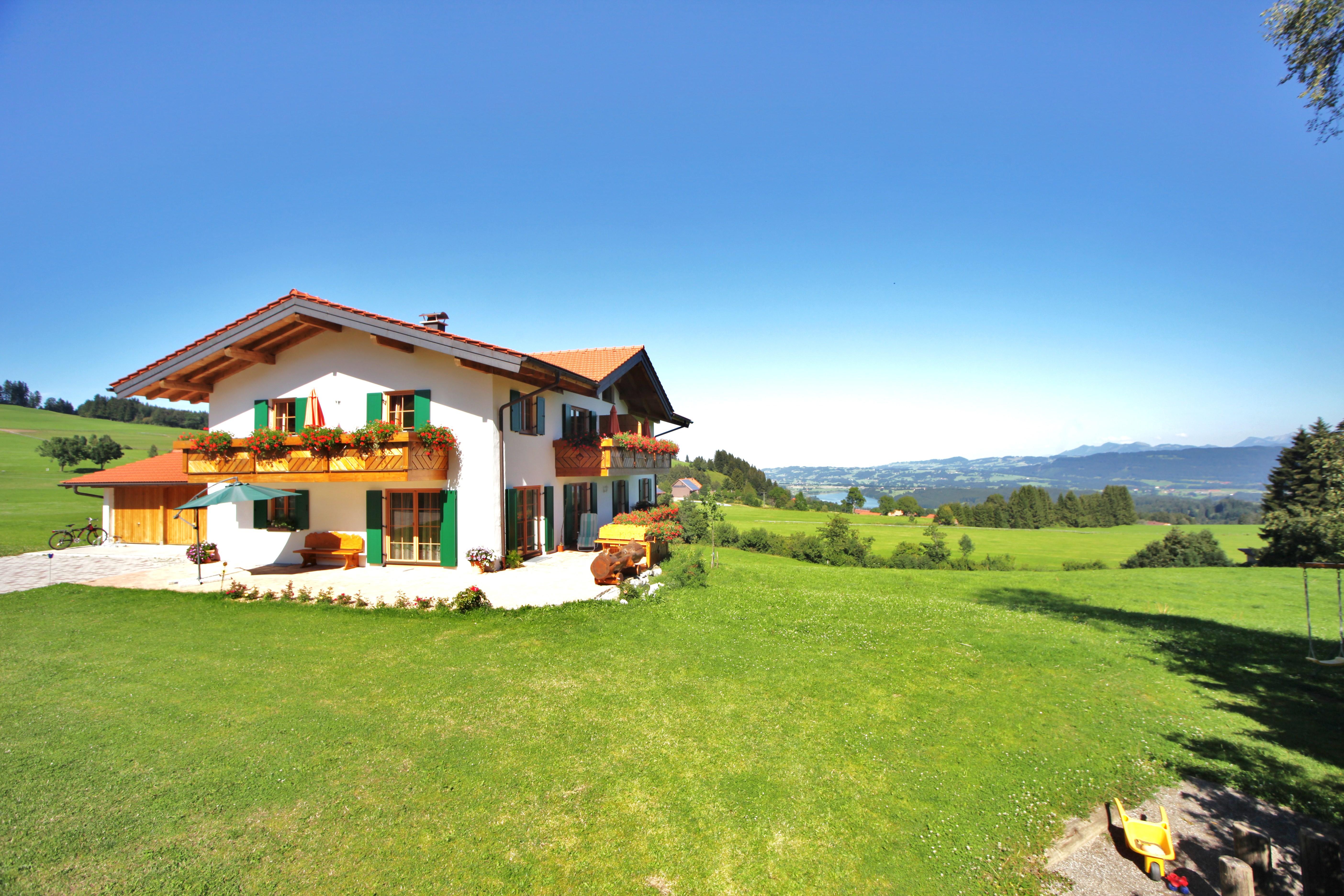 Super Sicht vom Hof aus auf den Niedersonthofener See