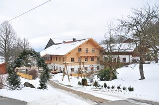 Hofansicht - Wintermärchen am Schoffahanslhof