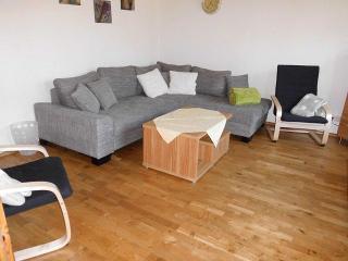 Polstersitzgruppe im Wohnzimmer, Wohnung Deichblick