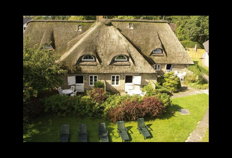 Hausansicht von oben, Bauernhaus Bellendorf