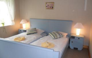 Fewo Nr. 5, blaues Schlafzimmer