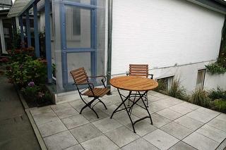 Die kleiner Terrasse für schöne Tae