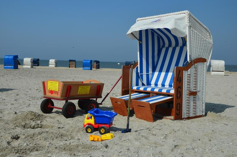 Strandkorb direkt am Meer