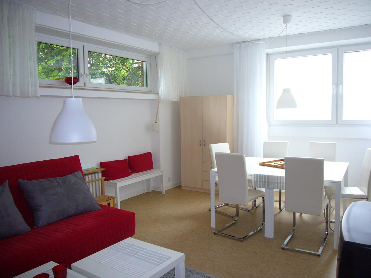 City wohnung m nster holidy apartment 76 qm 1 6 persons for Wohnzimmer 60 qm