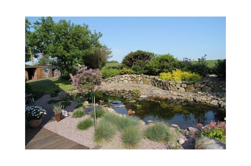 Blick auf die Teichanlage, Ferienwohnung Stolle, Süderstapel