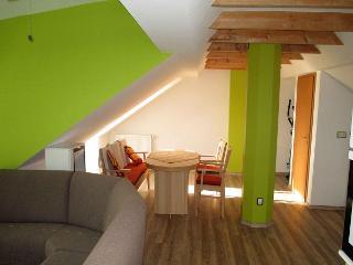 Wohnzimmer mit Blick auf die Essecke