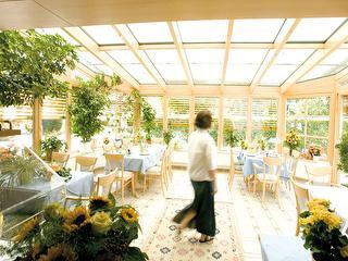 Wintergarten im Hotel Stegner