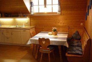 Küche mit der gemütlichen Eckbank
