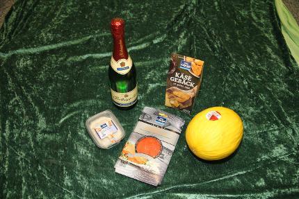 """Regionaler Einkaufskorb - Zusatzpaket """"Luxus"""" zum Sektfrühstück"""