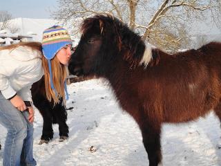 Mädchen und Pony die erste große Liebe