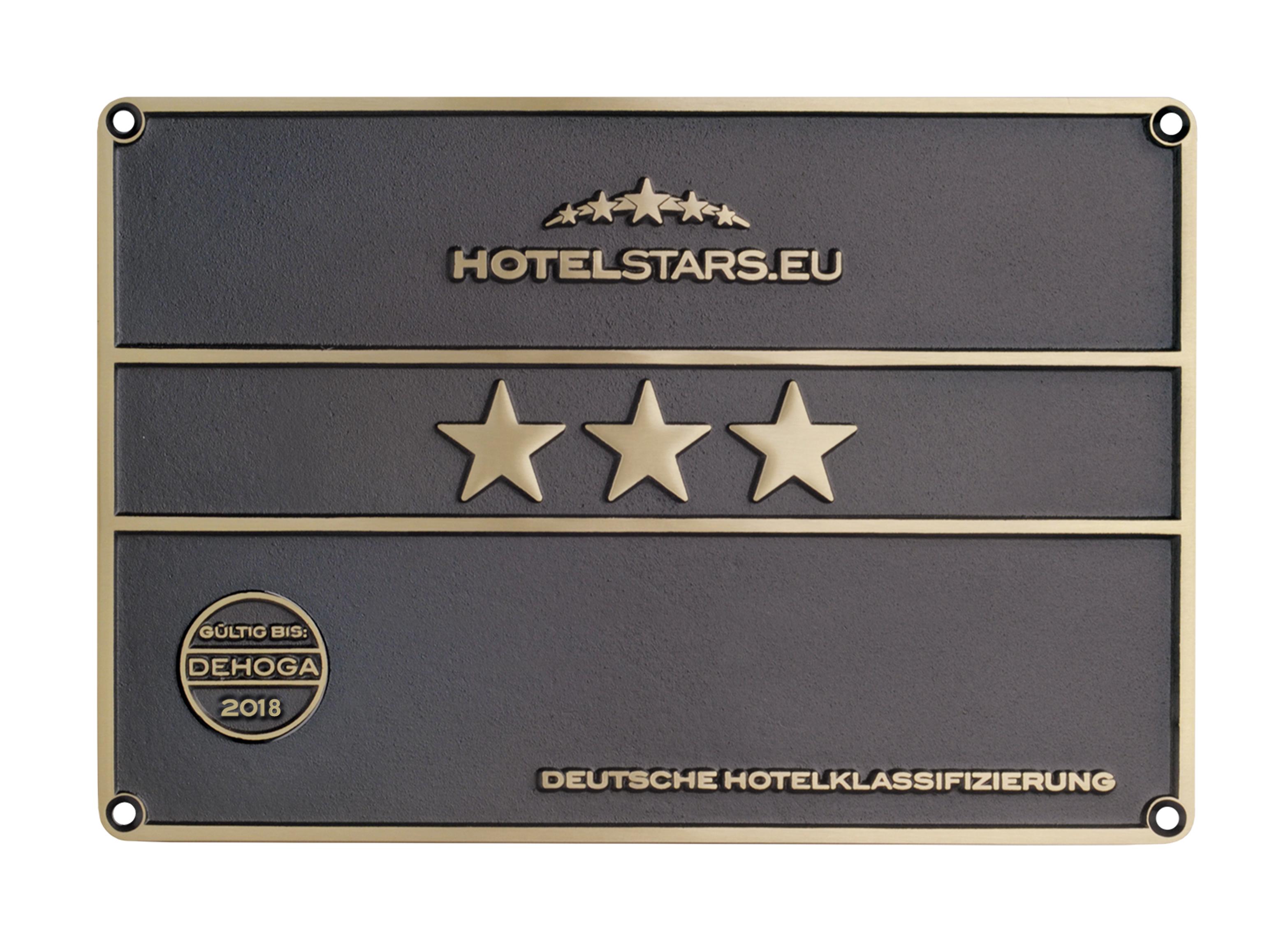 DEHOGA Hotelklassifizierung 3 Sterne