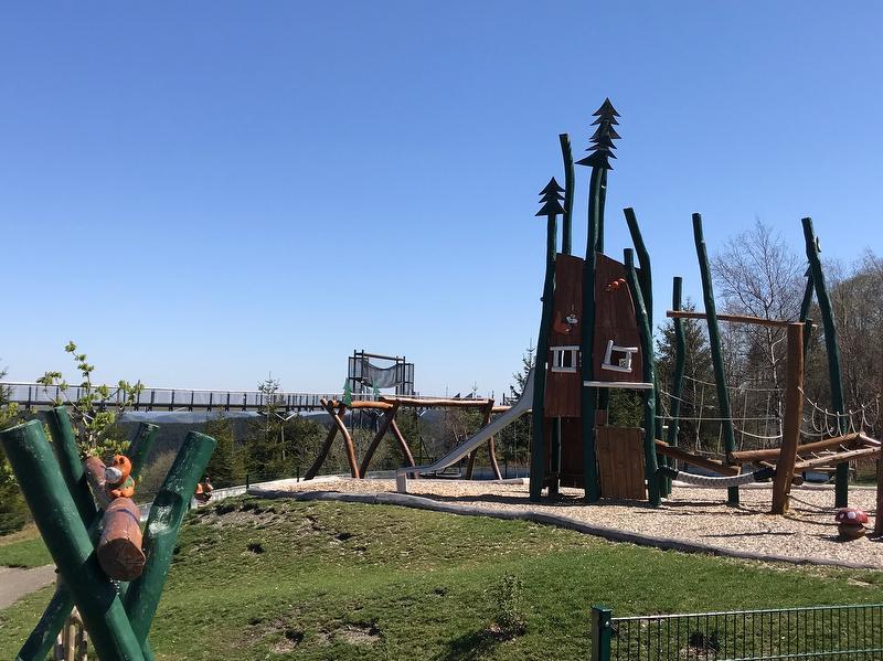 Panoramabrücke und Spielplatz (fußläufig)
