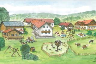 Ein Bauernhof wie im Bilderbuch