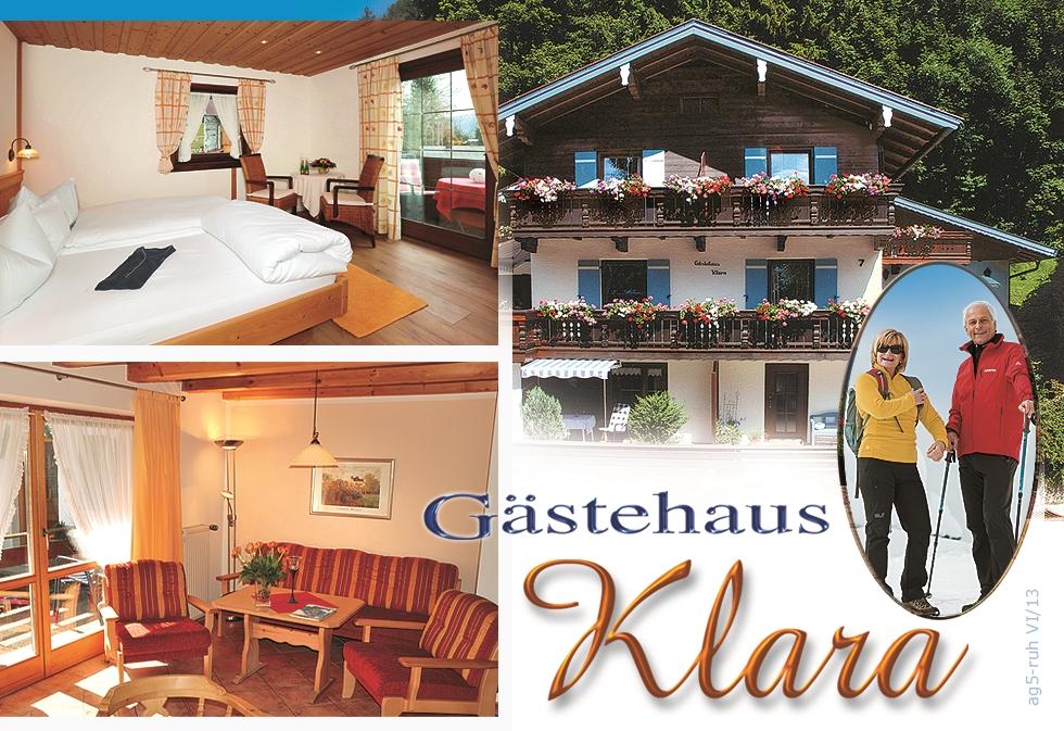 Gästehaus Klara (DE Reit im Winkl). (3) Zwei-Raum-Ferienwohnung 55qm ...