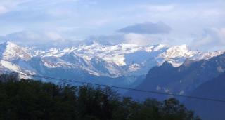 Aussicht auf die Berchtesgadener Berge