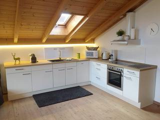 Küche in der Ferienwohnung Kaiserblick