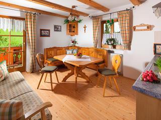 Wohnzimmer in der Ferienwohnung Barmstein