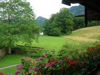 Beispiel Blick vom Balkon Gästehaus Zaggl