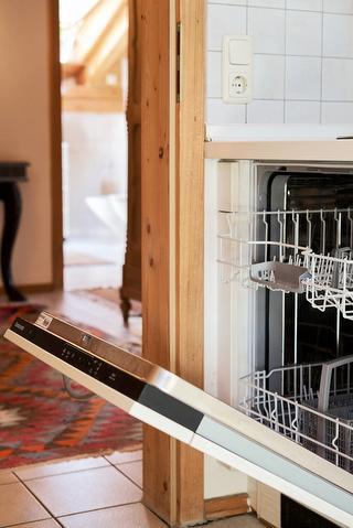 Die Maschine übernimmt das Geschirr