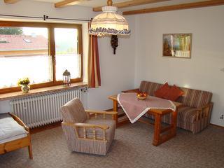 Ferienwohnung Heuberg - Wohnschlafzimmer