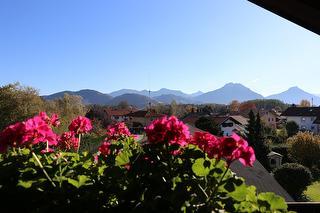 Himmel und Bergblick vom Balkon