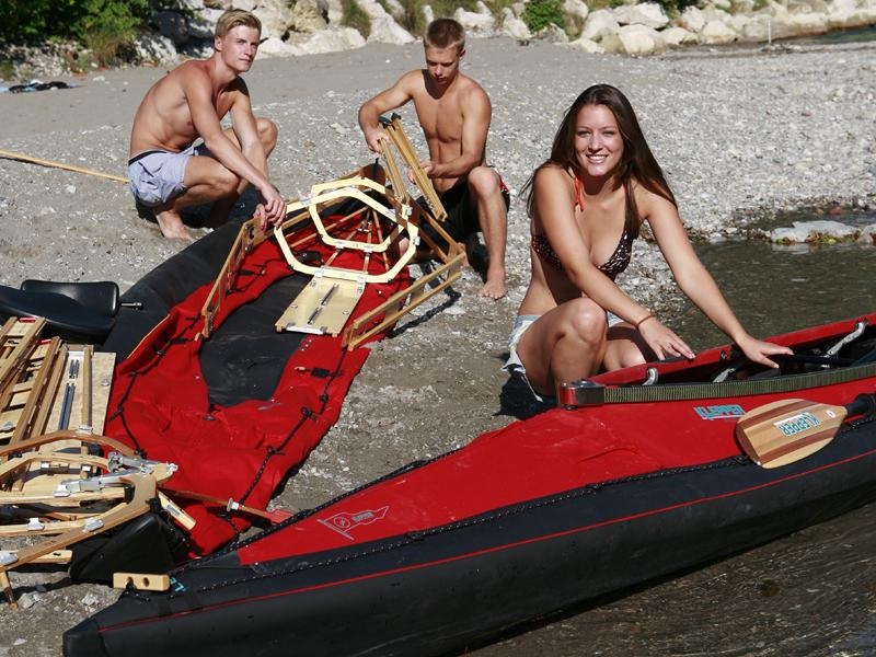 Paddeln am Chiemsee mit Klepper-Faltboot (Einer-Kajak)