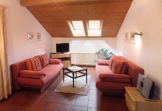 Wohnbereich der Ferienwohnung Baumgartner