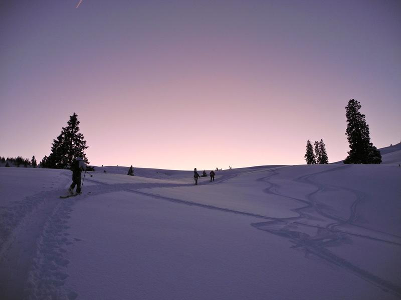 Hochwinter in den Chiemgauer Bergen und im Spitzinggebiet