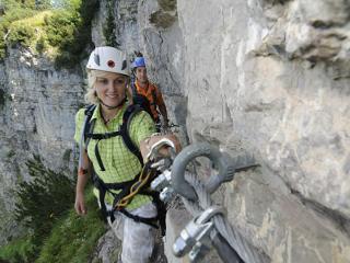 Klettersteig Hausbachfall : Klettersteig tour am hausbachfall chiemsee alpenland tourismus