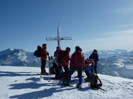 Fellhorn - Aussichtsloge in den Chiemgauern (mittelschwere Schneeschuhwanderung)