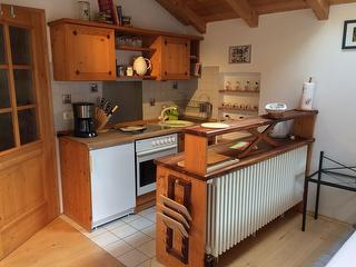 Kochbereich in der Ferienwohnung Andrea