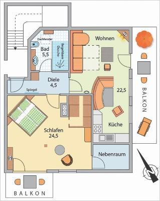 Grundriss Ferienwohnung Kaiserwinkl Suite