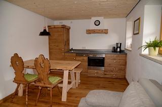 Mühlradstube Küche mit Couch
