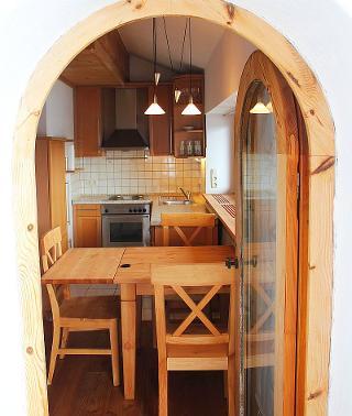 Küche vom Balkon aus