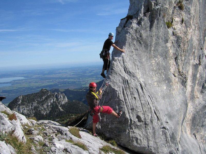 Klettersteig Hausbachfall : Hausbachfall klettersteig kurz und knackig feilnbach
