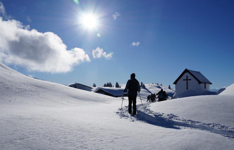 Eggenalm - Wintertraum mit Kaiserblick (Einfache Schneeschuhwanderung)