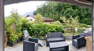 Terrasse mit Garten-Lounge Mäbeln