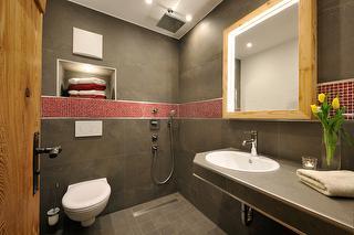 5 Sterne Ferienwohnung Schaf, Badezimmer