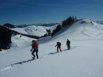 Schneeschuhtour auf das Fellhorn - Aussichtsloge in den Chiemgauern (mittelschwer)