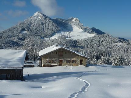 """Schneeschuhtour von Hütte zu Hütte - die Chiemgauer """"kleine Reibn"""""""
