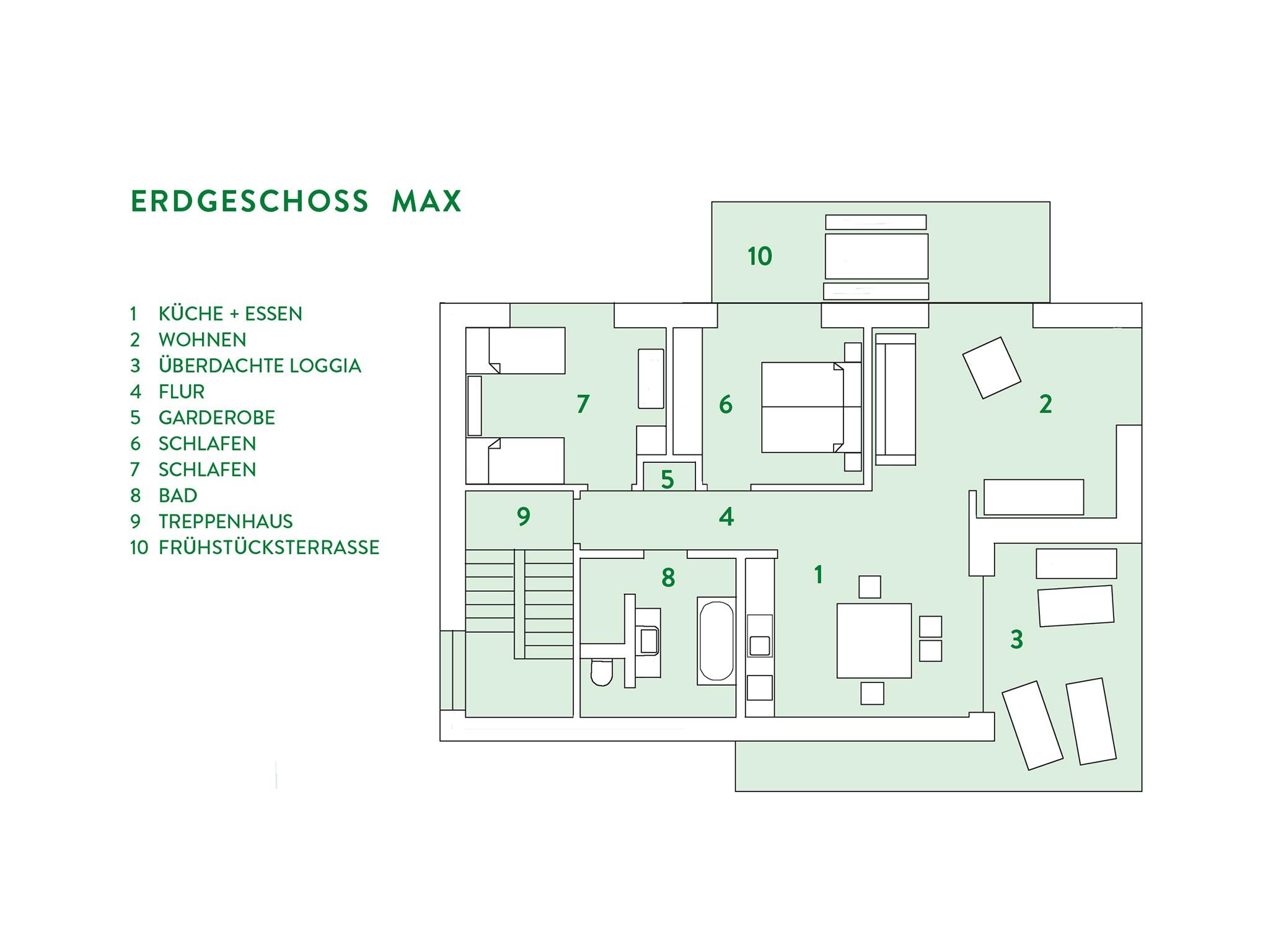 Appartement de vacances Schmidhuber - Ferienhaus im Obstanger (DE Chieming). Ferienwohnung MAX - 1-4 Personen, 2 s (2597106), Chieming, Lac de Chiem, Bavière, Allemagne, image 17