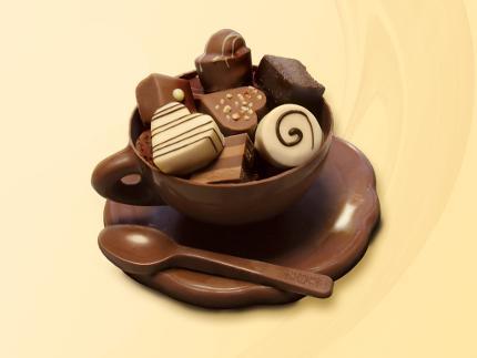 """Winterzauber: """"Eine Tasse zum Anbeißen"""" - Schokoladenkurs in der Confiserie Dengel"""