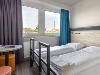 Doppelzimmer / Urheber: a&o Frankfurt Galluswarte / Rechteinhaber: © a&o Frankfurt Galluswarte