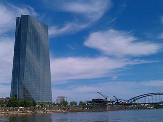 Blick auf die Europäische Zentralbank