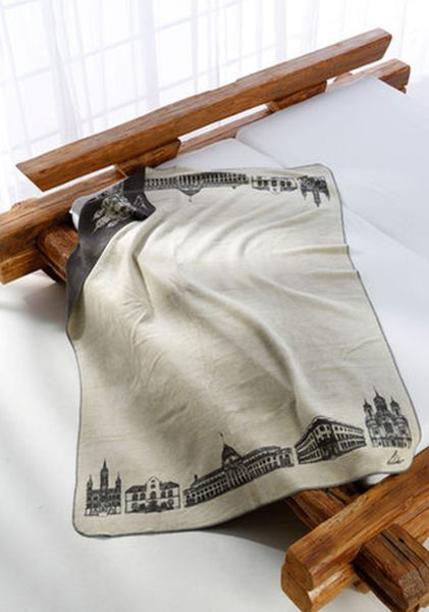 Blanket with Wiesbaden motif