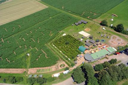 Maislabyrinth am Edersee