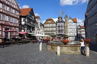 Marktplatz in Fritzlar / Urheber: Johannes de Lange / Rechteinhaber: © Johannes de Lange