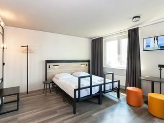 Doppelzimmer / Urheber: a&o Frankfurt Ostend / Rechteinhaber: © a&o Frankfurt Ostend
