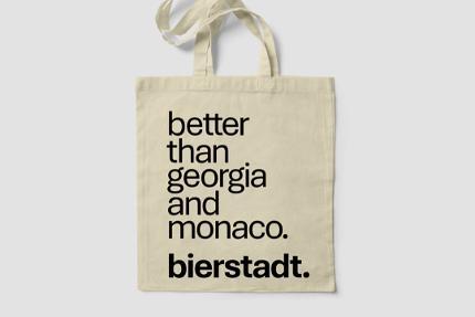 "Baumwolltasche ""Better than Georgia and Monaco. bierstadt."""